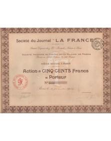 """LA FRANCE"" Newspaper"