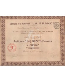 "Sté du Journal ""LA FRANCE"""