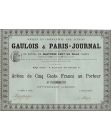 Sté du Gaulois & Paris-Journal