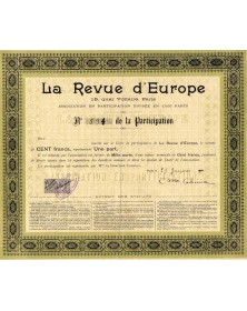 La Revue d'Europe - Association en Participation