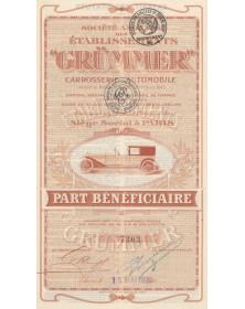 S.A. des Ets Grümmer - Carrosserie automobile, Ancienne Maison V. Morel
