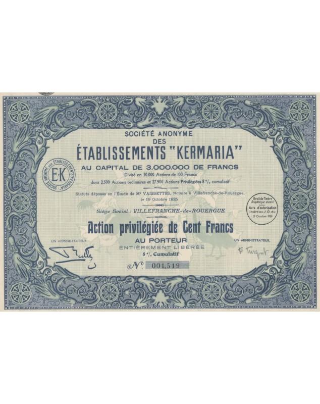 S.A. des Etablissements ''Kermaria'' Aveyron