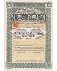 Sté des Automobiles Delahaye