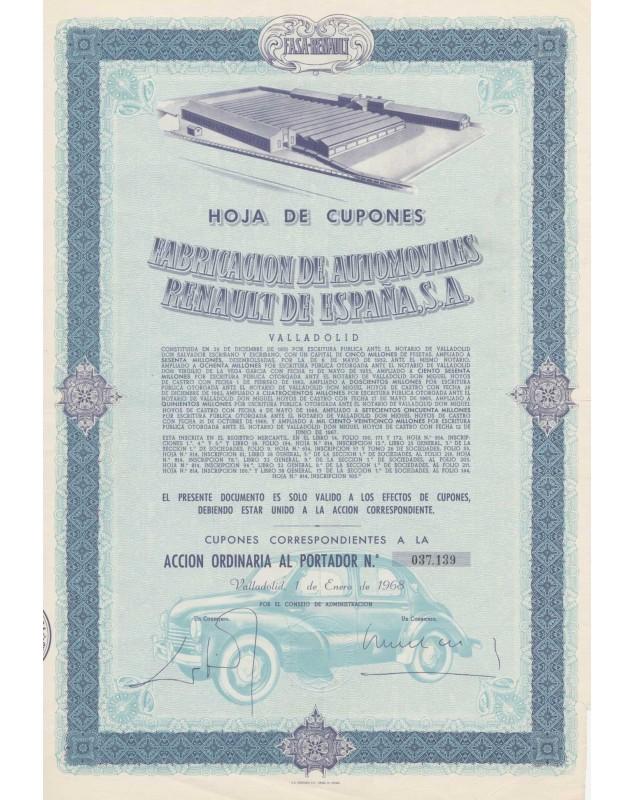 Fabricacion de Automovilles RENAULT España, S.A. (FASA-Renault)