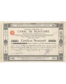 Entreprise du Canal d'Aigues-Mortes à Beaucaire. Ancienne Cie du Canal de Beaucaire Languedoc-Roussillon/Gard 30