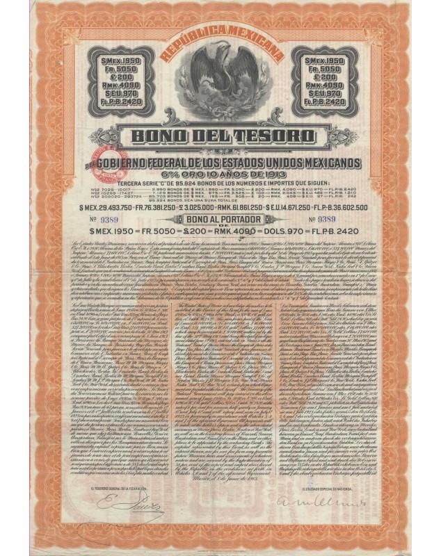 "Republica Mexicana - Bono del Tesoro (""Papaya Bond"")"