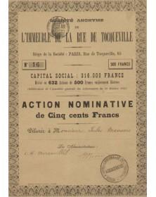 S.A. de l'Immeuble de la Rue de Tocqueville