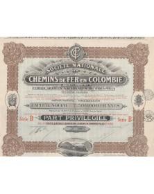 Sté Nationale de Chemins de Fer en Colombie