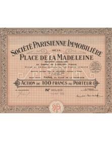 Sté Parisienne Immobilière de la Place Madeleine