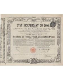 Etat Indépendant du Congo - Emprunt de 150 milions de F