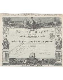 Bank Crédit Rural de France. 1875