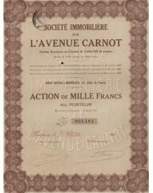 Sté Immobilière de l'Avenue Carnot
