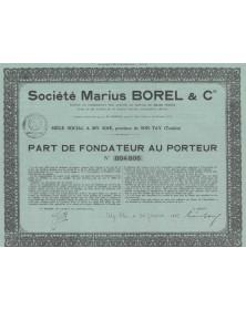 Sté Marius Borel & Cie