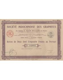 Sté Indochinoise des Graphites Haiphon 1926