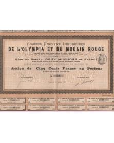 Sté Immoblilère de l'Olympia et du Moulin Rouge