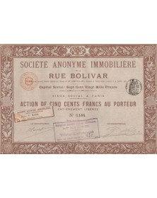 S.A. Immobilière de la Rue Bolivar