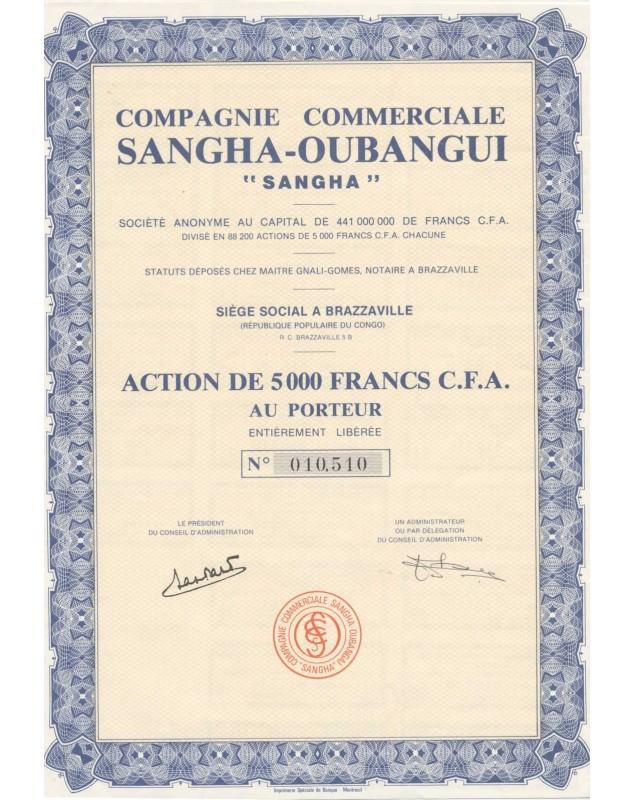 """Cie Commerciale Sangha-Oubangui """"SANGHA"""""""