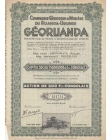 Cie Géologique & Minière du Ruanda-Urundi GEORUANDA