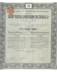 The Saint-Floxel Provision Factories, Ltd. Normandy/Manche 50