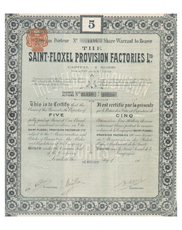 The Saint-Floxel Provision Factories, Ltd.