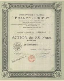 """Sté Commerciale et Industrielle """"France-Orient"""""""