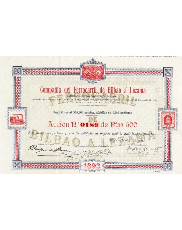 Compañia del Ferrocarril de Bilbao à Lezama