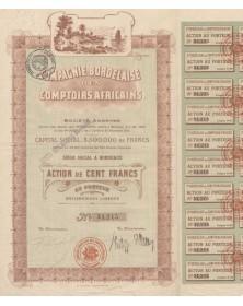 Cie Bordelaise des Comptoirs Africains. 1918