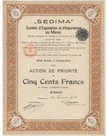 SEDIMA - Sté d'Exportation et d'Importation au Maroc