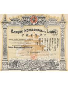 Banque Industrielle de Chine. Signé Berthelot