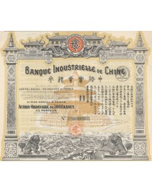 Banque Industrielle de Chine. Signed by Berthelot