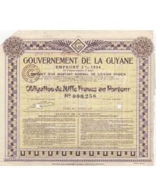 Gouvernement de la Guyane Emprunt 5% 1934