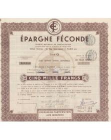 Epargne Féconde, Société Mutuelle de Capitalisation