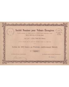 Sté Nominee pour Valeurs Etrangères