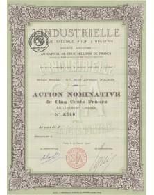 L'Industrielle, Banque Spéciale pour l'Industrie