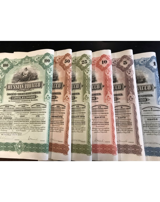 Russian Tobacco Company - Complete set of certificates