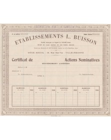 Etablissements L. Buisson (mobilier)
