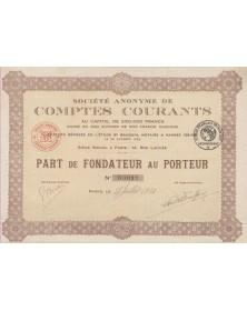 S.A. des Comptes Courants