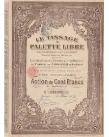 Le Tissage à Palette Libre, Brevets P. Sabonadier & Et. d'Eaubonne. S.A. Française pour la Fabrication de Tissus Artistiques.
