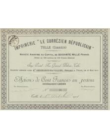 Imprimerie ''Le Corrézien Républicain''