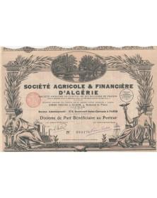Sté Agricole & Financière d'Algérie