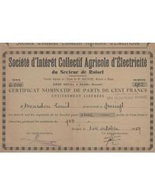 Sté d'Intérêt Collectif Agricole d'Electricité du Secteur de Roisel (Somme)