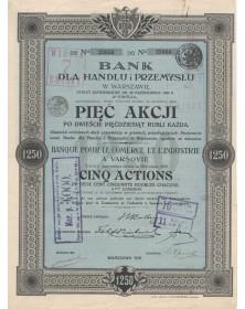 Banque pour le commerce et l'Industrie à Varsovie
