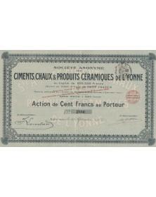 S.A. des Ciments, Chaux & Produits Céramiques de l'Yonne
