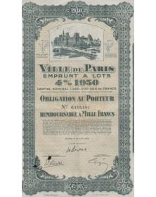 Ville de Paris, Emprunt 4% 1930
