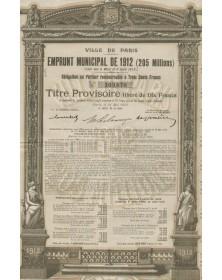 Ville de Paris - Emprunt Municipal de 1912 (205 Millions)