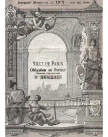 Ville de Paris - Municipal Loan 1912 (205 millions)