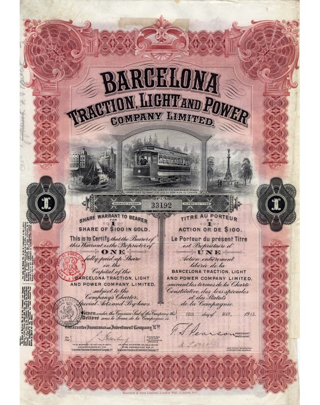 Barcelona Traction, Light and Power Co. Ltd