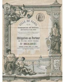 Ville de Paris - Emprunt de 45 millions Métropolitain 1910