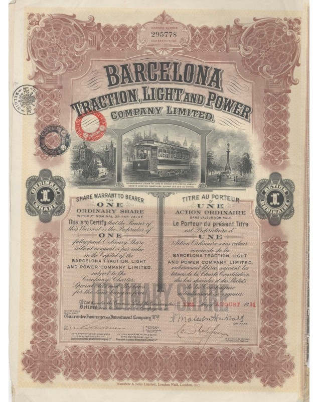 Barcelona Traction, Light and Power Co., Ltd. - 1931