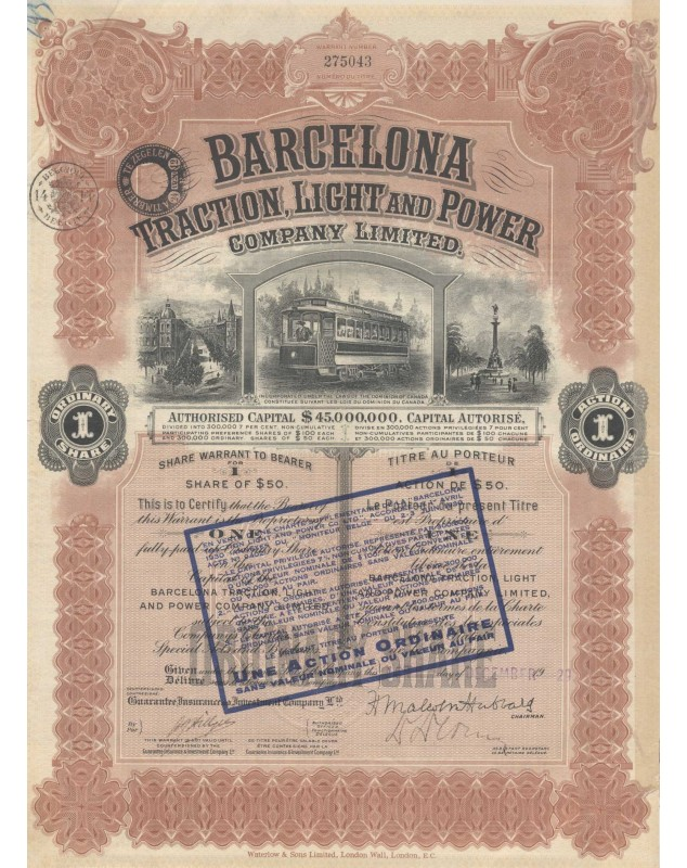 Tramways Barcelona Traction, Light and Power Co., Ltd